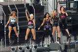 Nicole Scherzinger, Melody Thornton, Jessica Sutta, Ashley Roberts, Kimberly Wyatt of the Pussycat Dolls at the sound check for Jimmy Kimmel Live.