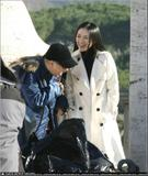 Ziyi Zhang films a shampoo advert in Rome, Italy