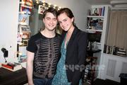 "Emma Watson & Daniel Radcliffe at the Musical ""How to Succeed in Business Without Really Trying"" in New York City on April 28, 2011"
