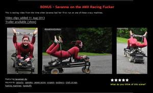 House of Gord: BONUS - Savanna on the MKII Racing Fucker